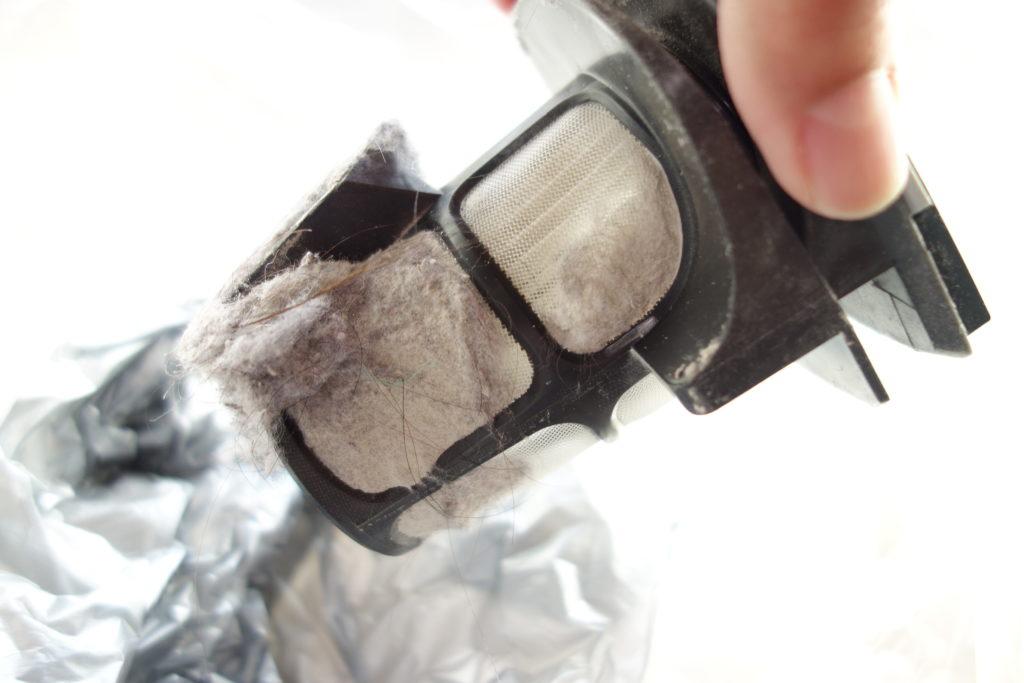 非常に細かいゴミも吸い取ることができフィルターの掃除も簡単