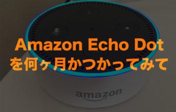 Amazon echo dot レビューアイキャッチ