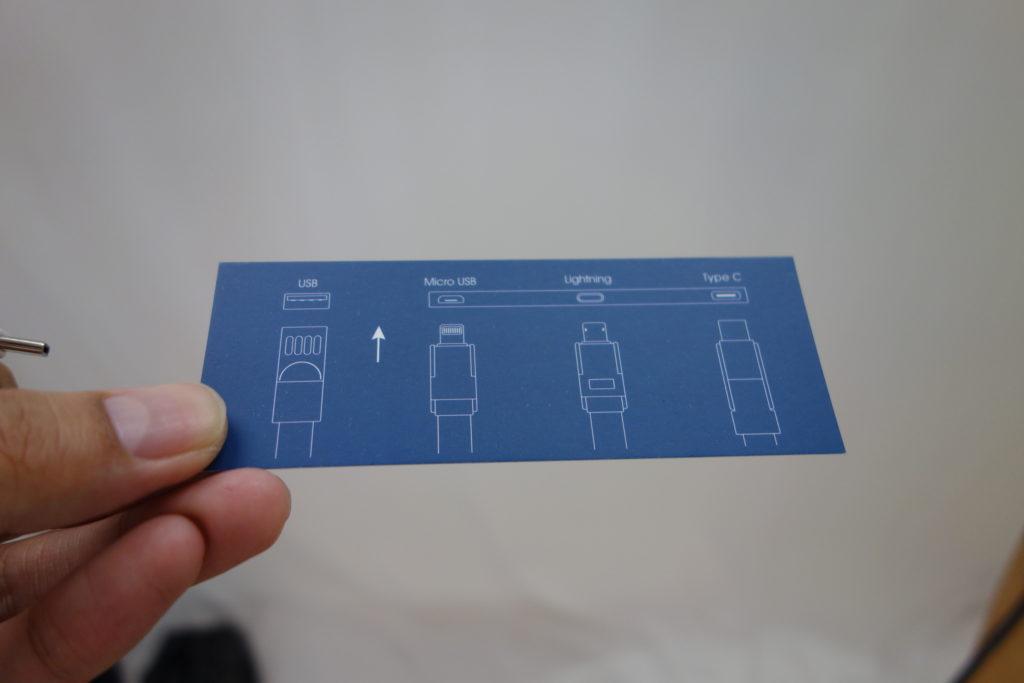 USBマルチケーブルの簡易マニュアル